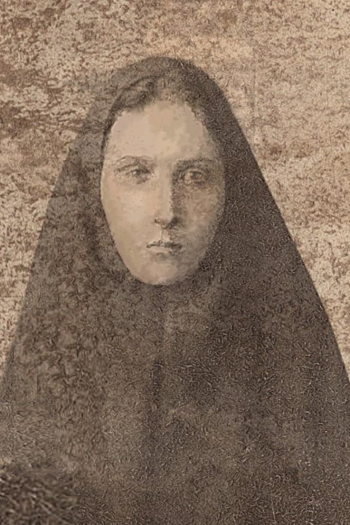 Монахиня Агафангела приняла постриг в период с 1917 по 1919 гг. Сохранилась одна общая фотография где она в монашеском облачении.